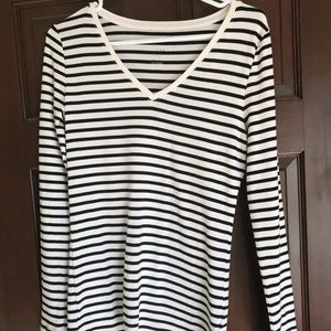 Long Sleeve Stripe A New Day Vneck Top